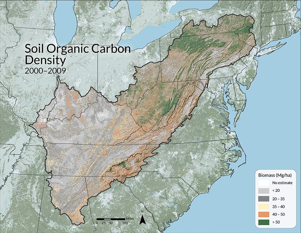Wilson, BT, CW Woodall, and DM Griffith. 2013. Forest carbon stocks of the contiguous U.S. (2000-2009). US Forest Service.